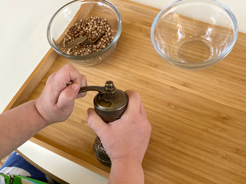 Spice grinder at How we Montessori
