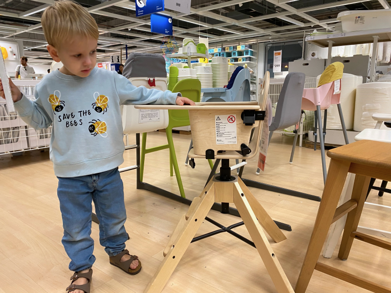 New Ikea high chair toddler chair at How we Montessori