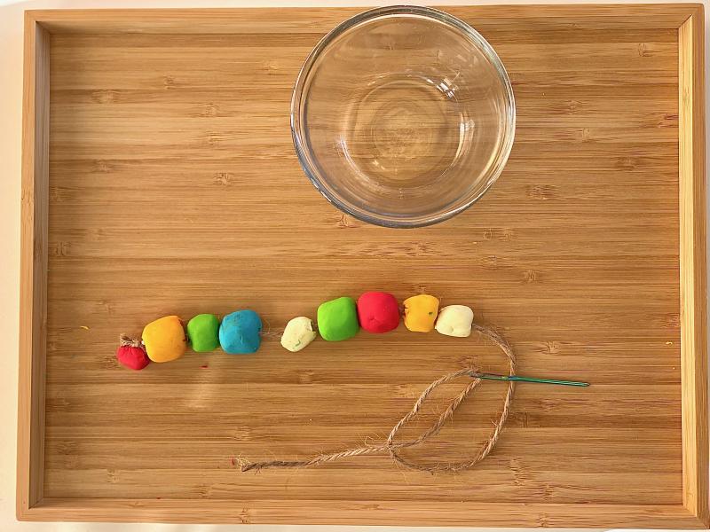 FIMO bead threading at How we Montessori