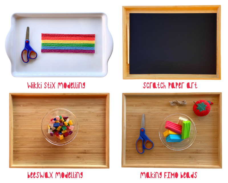 Art trays at How we Montessori (1)