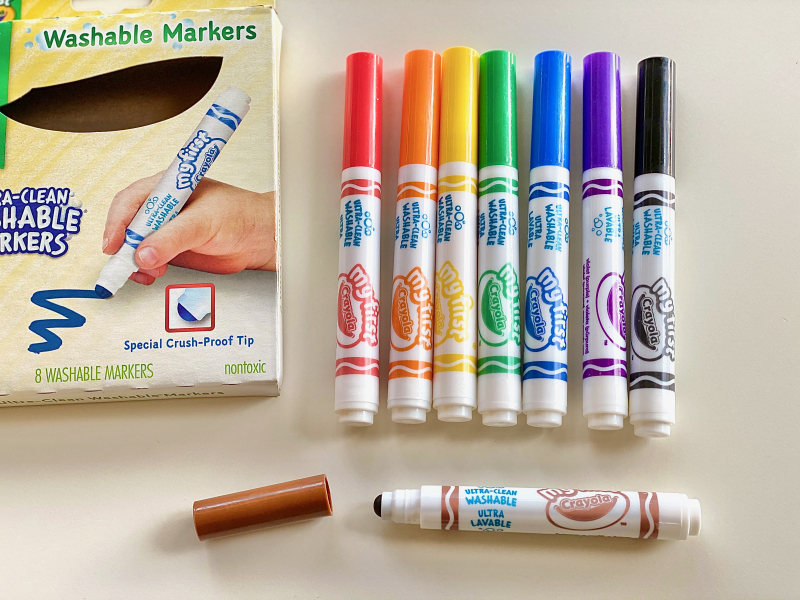 Crayola First Markers at How we Montessori ultra clean washable for three years