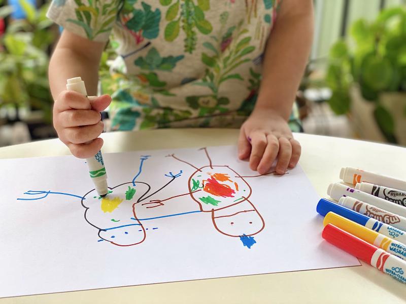 Crayola Washable Markers at How we Montessori at three years