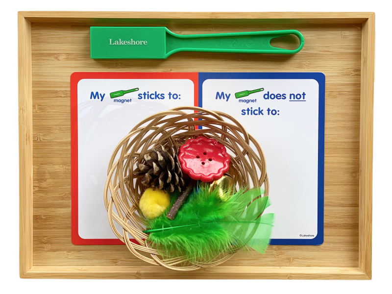 Magnetic non-magnetic sorting tray at How we Montessori (1)