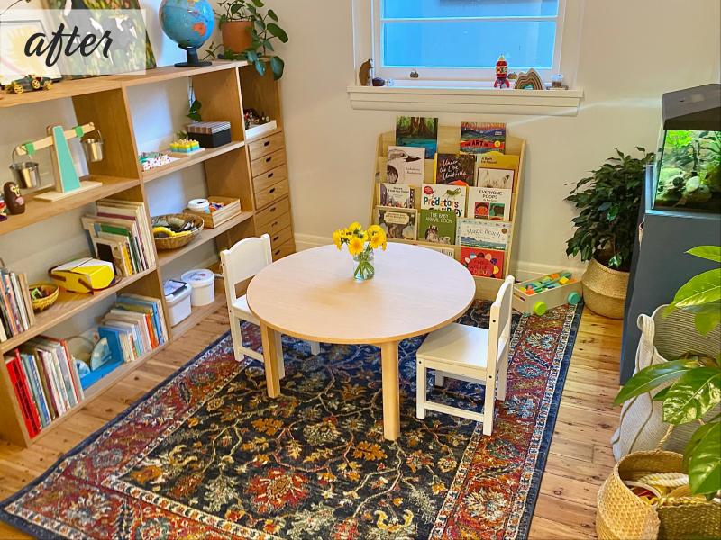 Bondi montessori playroom before at How we Montessori