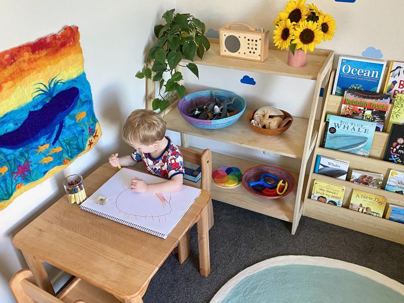 Montessori furniture book shelf at How we Montessori