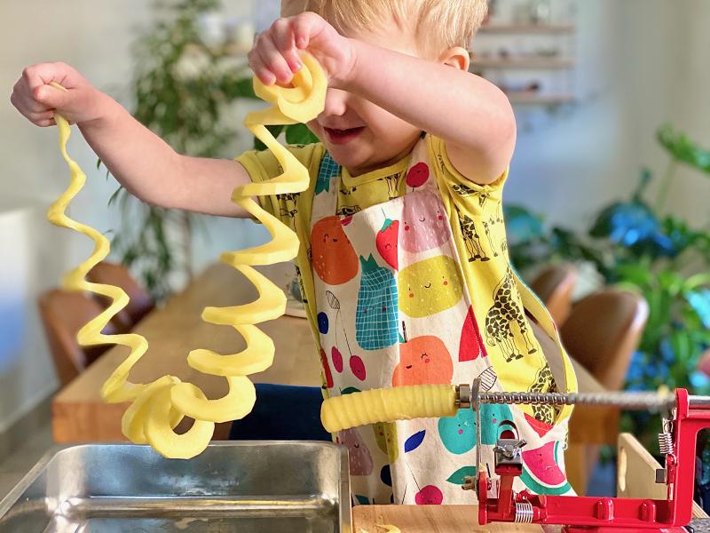Potato sprials cooked snack at How we Montessori (1)