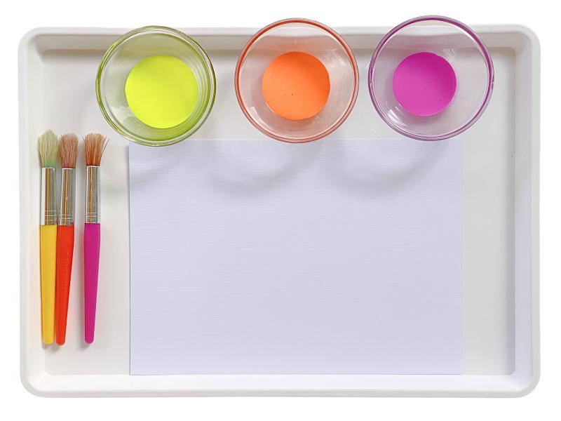 Uv paint tray at How we Montessori activity
