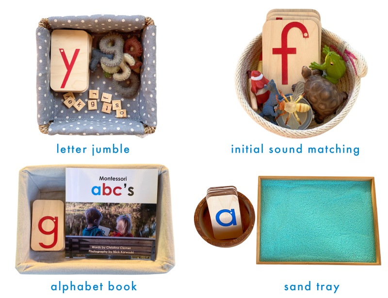 Montessori sand paper letters at Three Year Old at How we Montessori