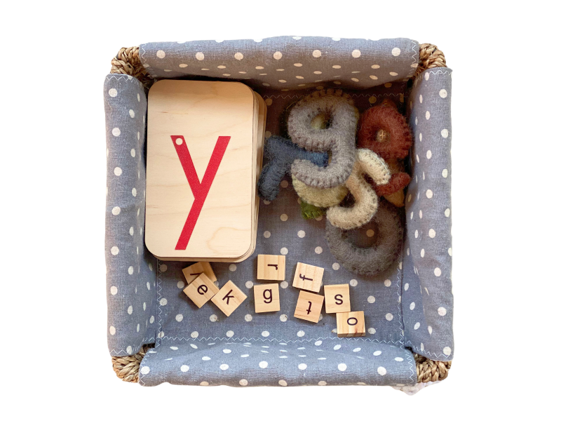 Letter jumble with sand paper letters at How we Montessori (1)