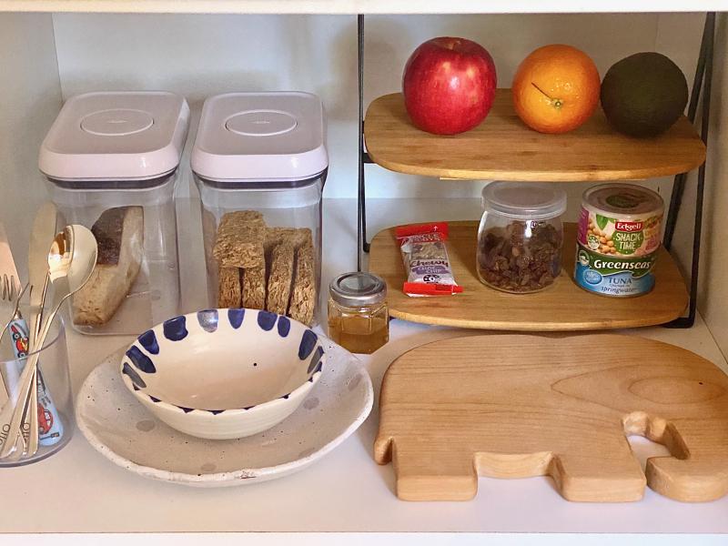 Breakfast snack shelves at How we Montessori (1)