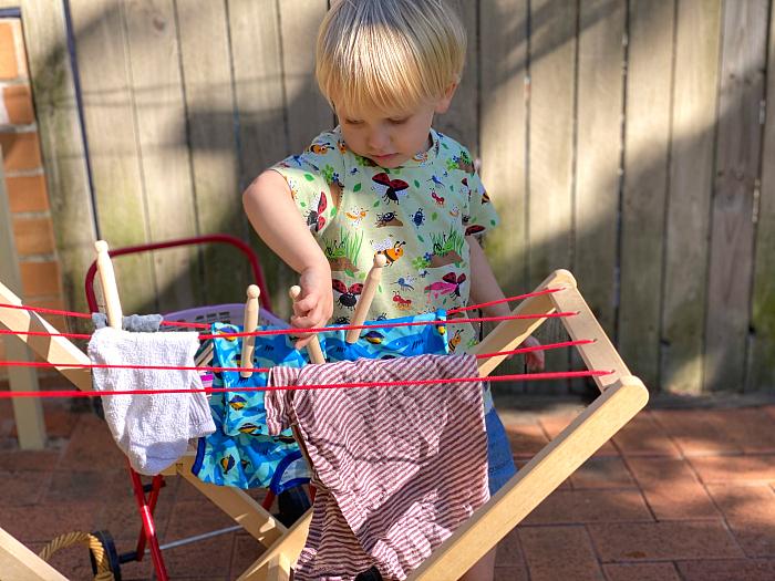 Peg washing at How we Montessori