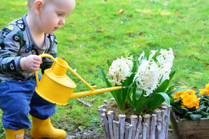 Watering can outside Montessori