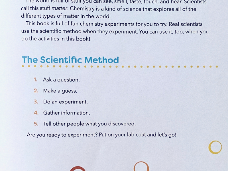 Big Chemistry Experiments for Little Kids at How we Montessori