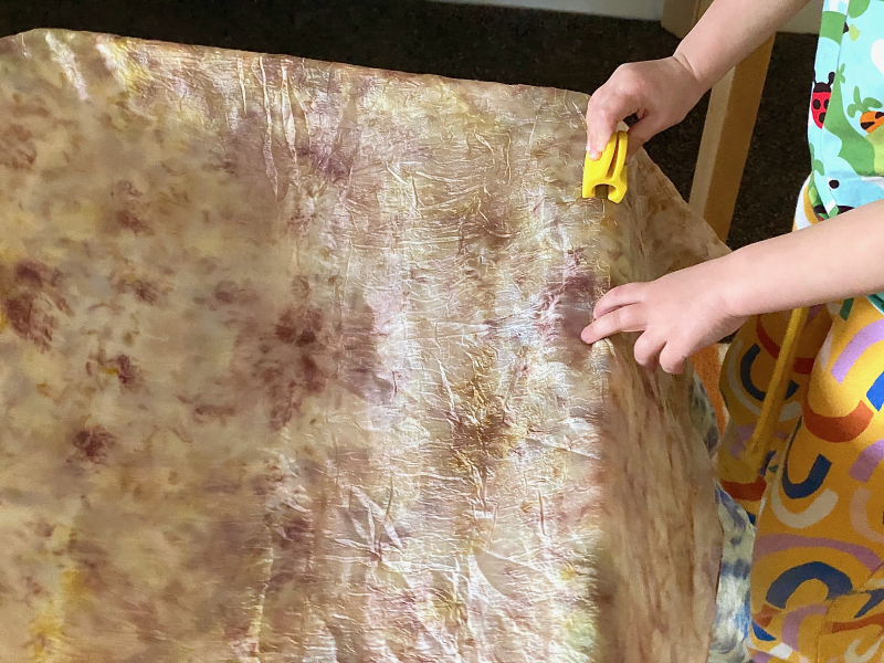How we Montessori play tent by Lovevery