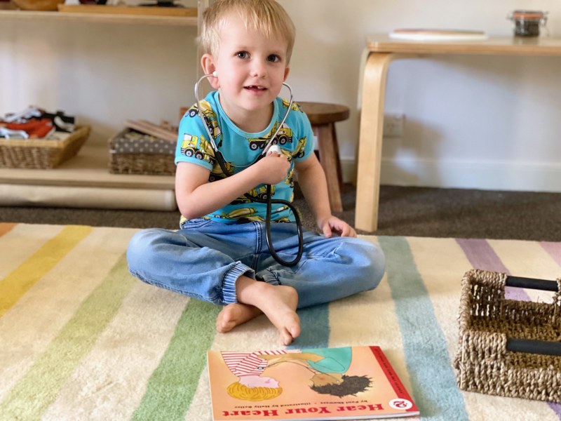 Book baskets at How we Montessori toddler preschooler (1)