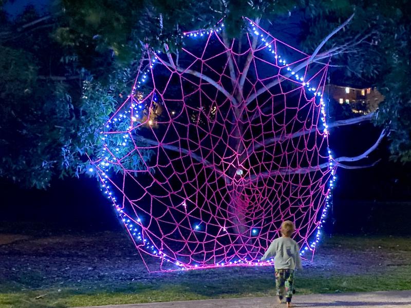 Randwick NOX light sculpture at How we Montessori