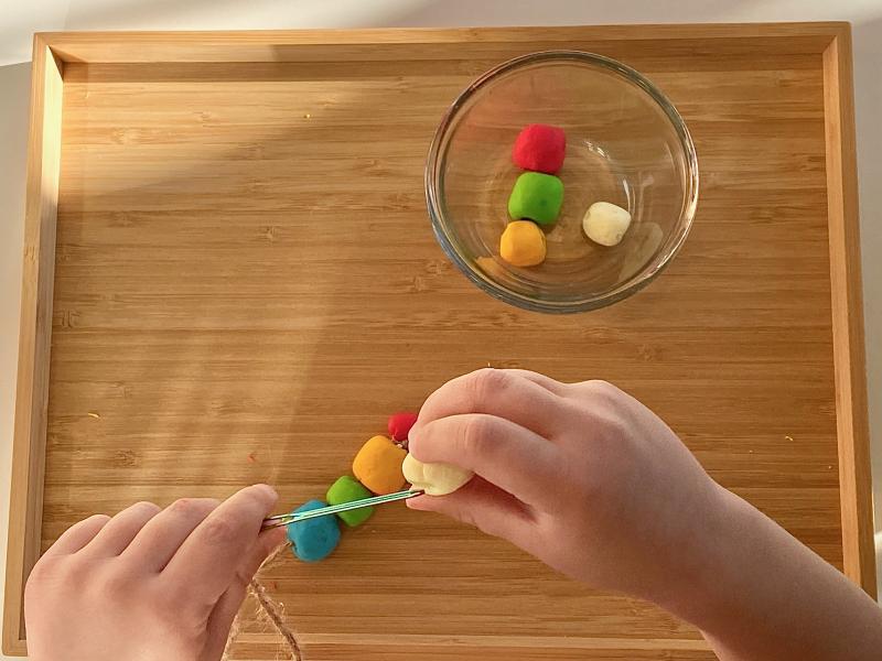 Threading fimo beads at how we montessori (3)