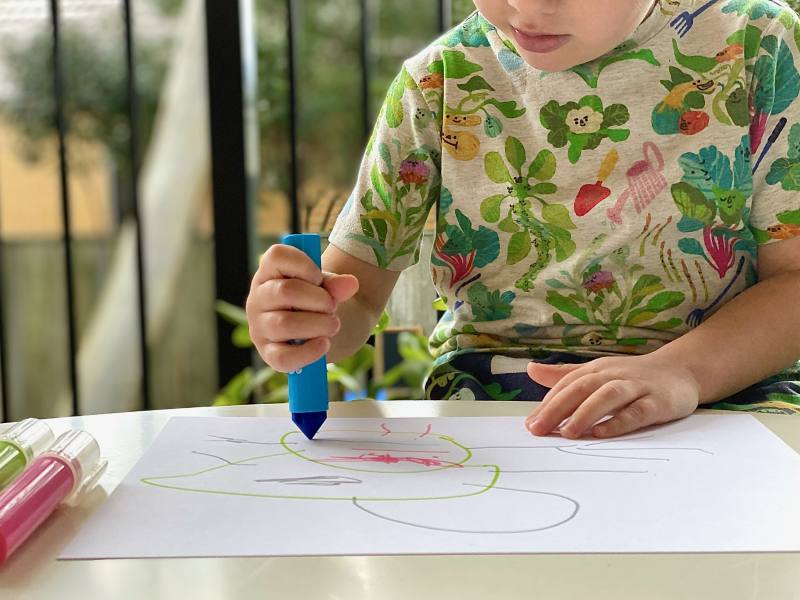Micador Chunky Kids markers at How we Montessori for three year old