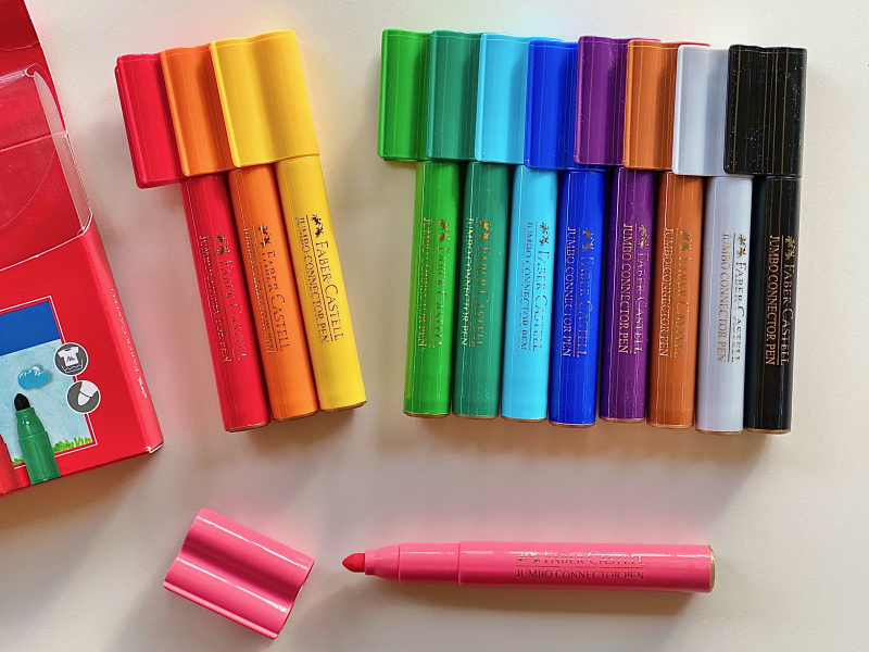 Faber Castell Jumbo Connector Pens at How we Montessori