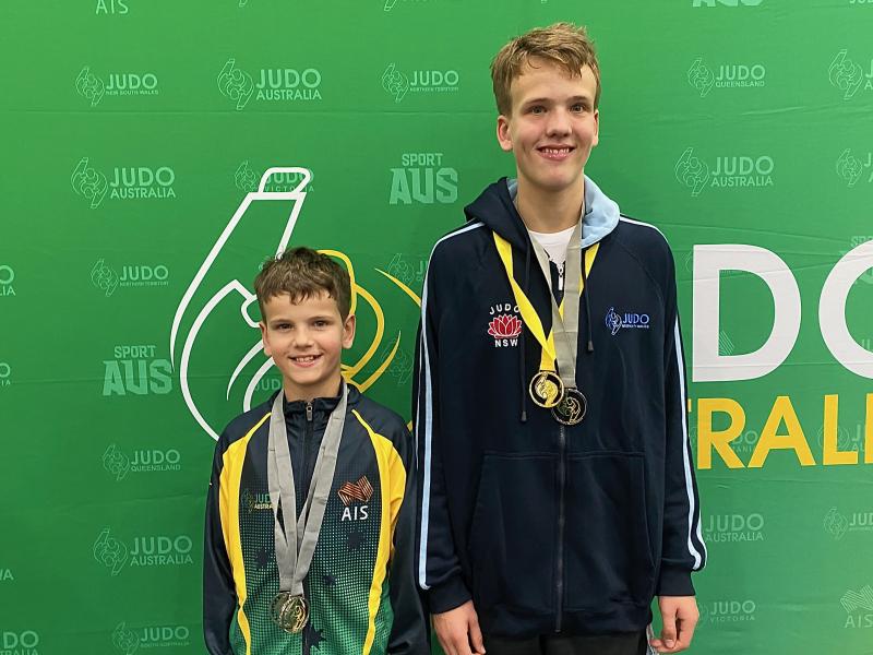 Judo Nationals Australia Juniors 2021 Caspar and Otis