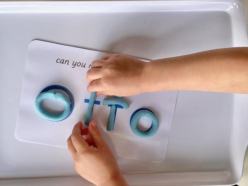 Make your name with playdough