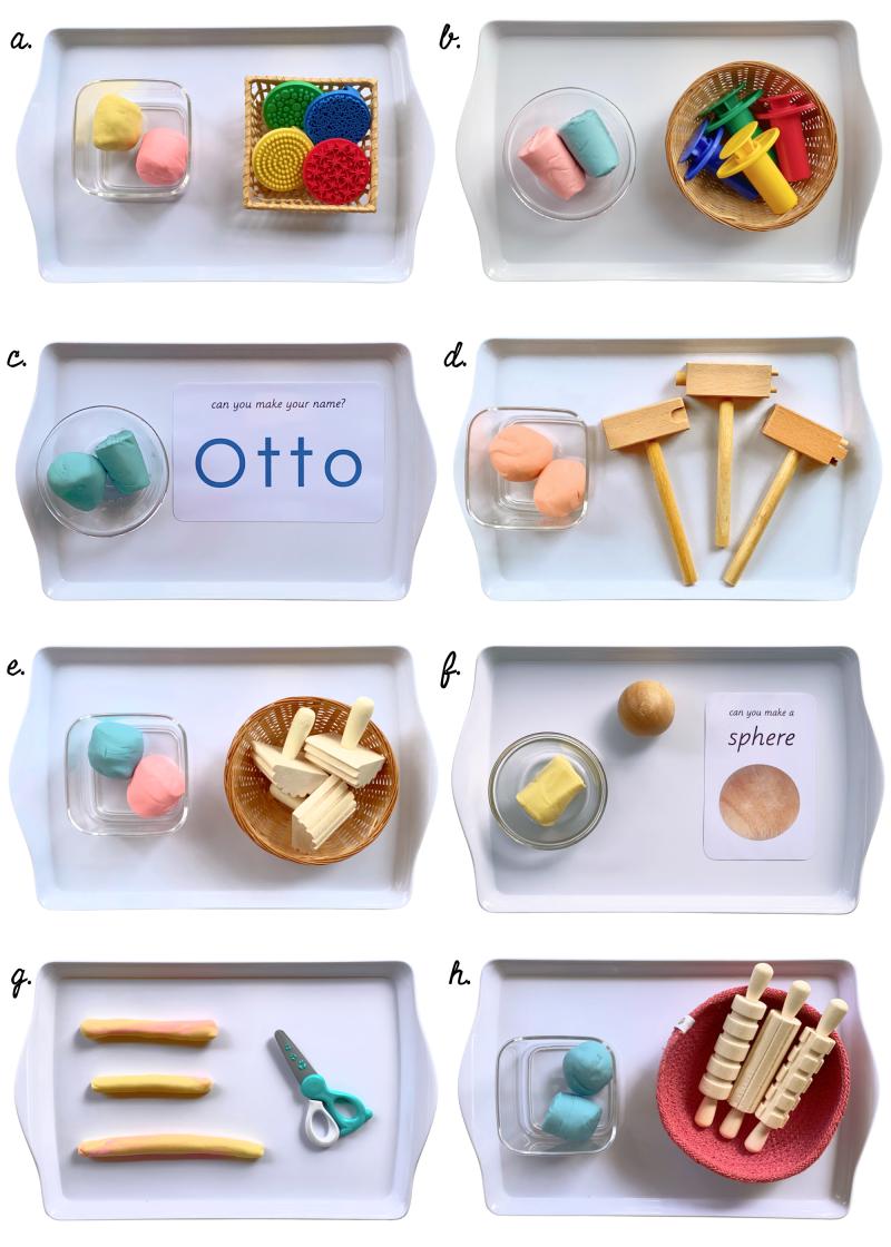 Play dough trays to rotate at How we Montessori (1)
