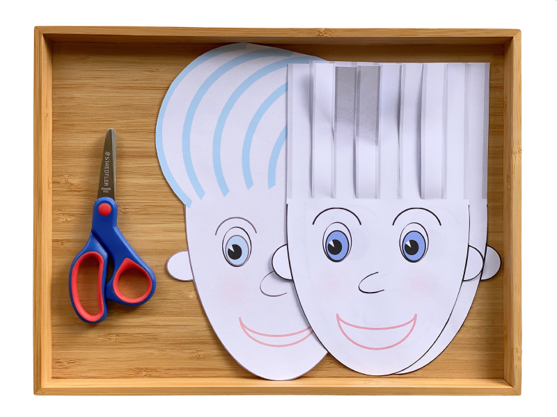 Hair cut scissor practice sheet face at How we Montessori jpeg