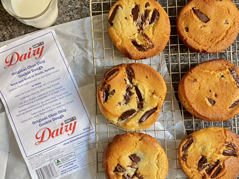 Bennett St Dairy Choc Chip Cookie Dough insolation care package (1)