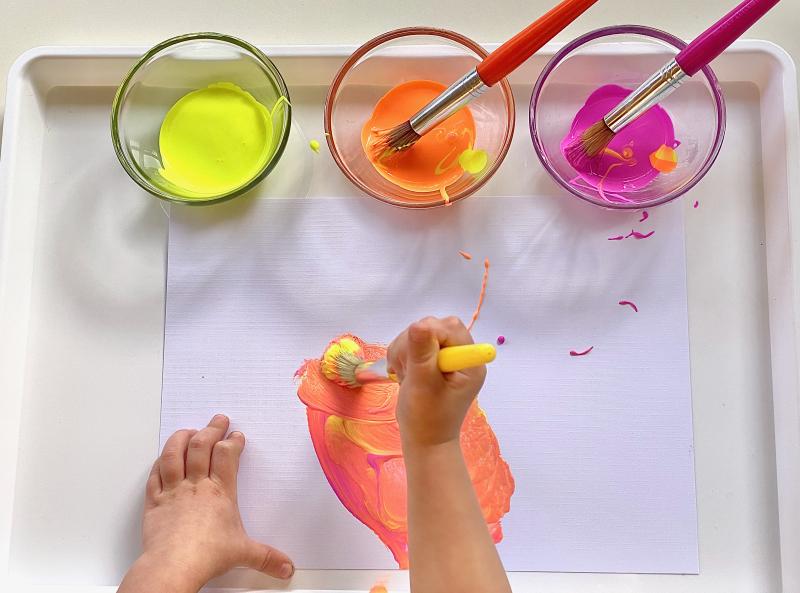 UV paint at How we Montessori