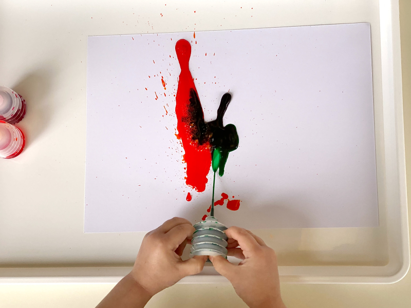 How to use a paint bellow at How we Montessori
