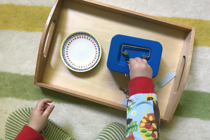Locakable coin box at How we Montessori