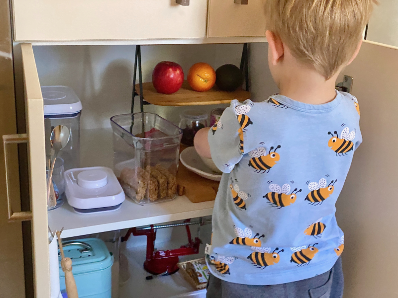 Otto making breakfast at How we Montessori (1)