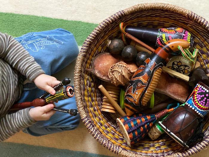 Music basket at How we Montessori