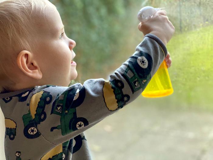 Mini spray bottle at How we Montessori