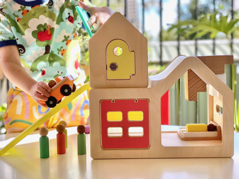 Lovevery play house at How we Montessori