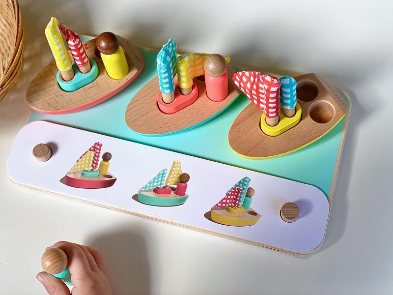 Lovevery Pattern Match Boats at How we Montessori