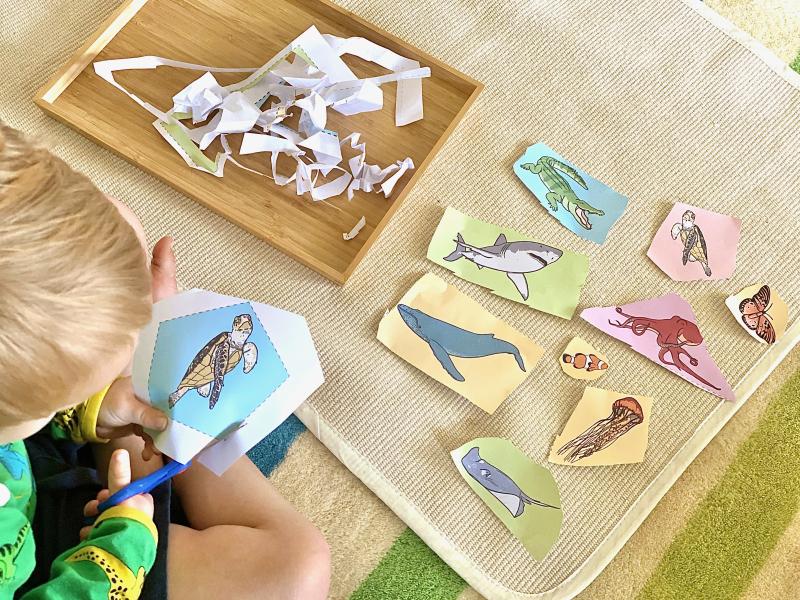 How we Montessori workshelves at three years Australia (1)