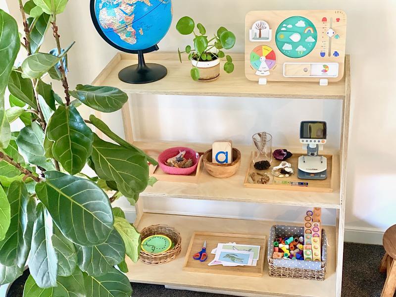 Montessori table work area at How we Montessori Sydney Australia