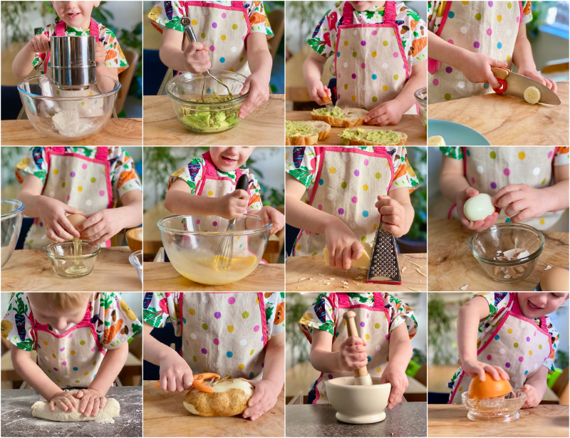 Kitchen skills for children to learn at How we Montessori at three years