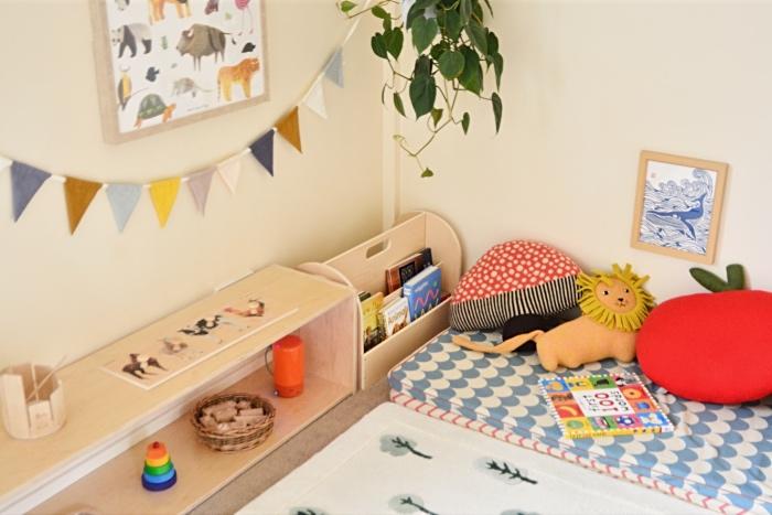 Reading corner at 15 months How we Montessori