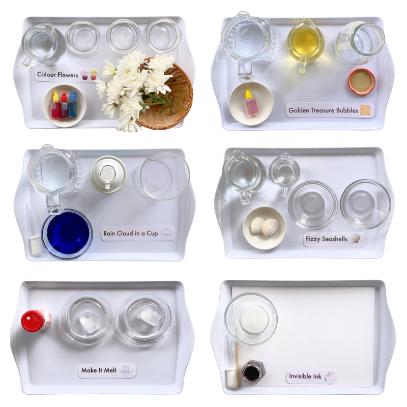 Science experiments for little kids at How we Montessori