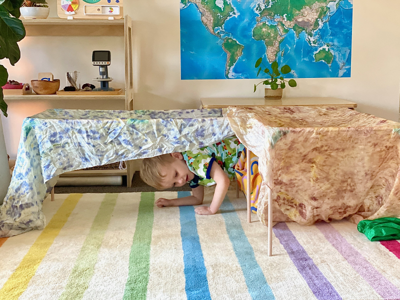 Lovevery play tent combinations at how we Montessori