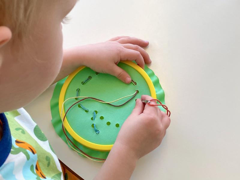 Montessori sewing kit at How we Montessori