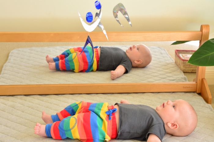 Dancers Mobile at three months at How we Montessori
